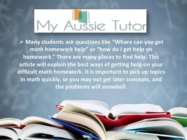 Where can i get homework help