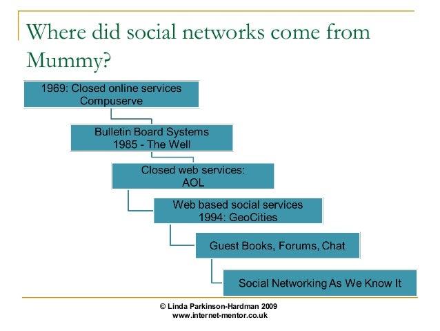 Where did social networks come fromMummy?             © Linda Parkinson-Hardman 2009                www.internet-mentor.co...