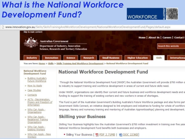 Where does e learning fit into workforce development webinar v01 wp what is the national workforce development fund malvernweather Choice Image