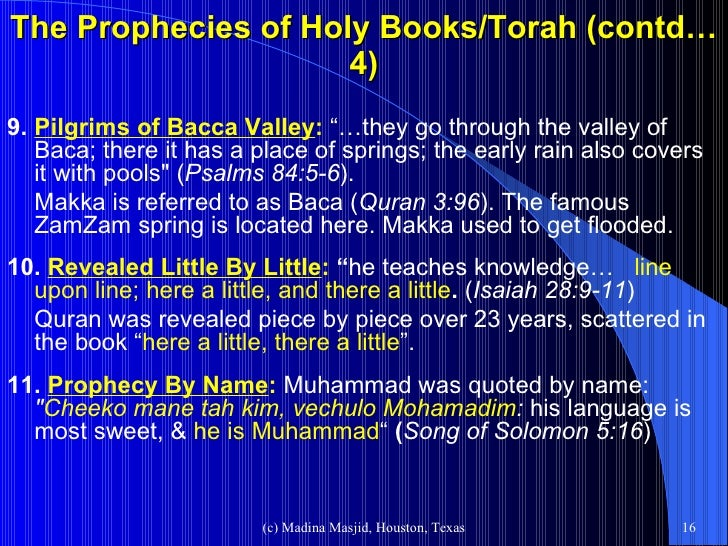 Different religious books indicates coming of Prophet Muhammed