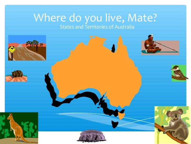 Where do you live, Mate? States and Territories of Australia