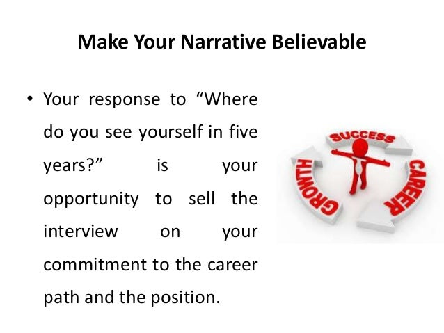 Attractive 45. Make Your Narrative Believable U2022 Your Response To U201cWhere Do You See  Yourself In Five Years?