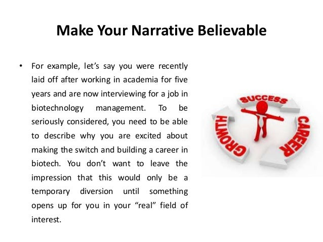 narrative interview example