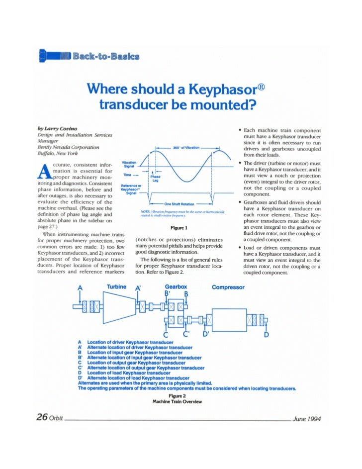 Where should a keyphasor transducer be mounted?