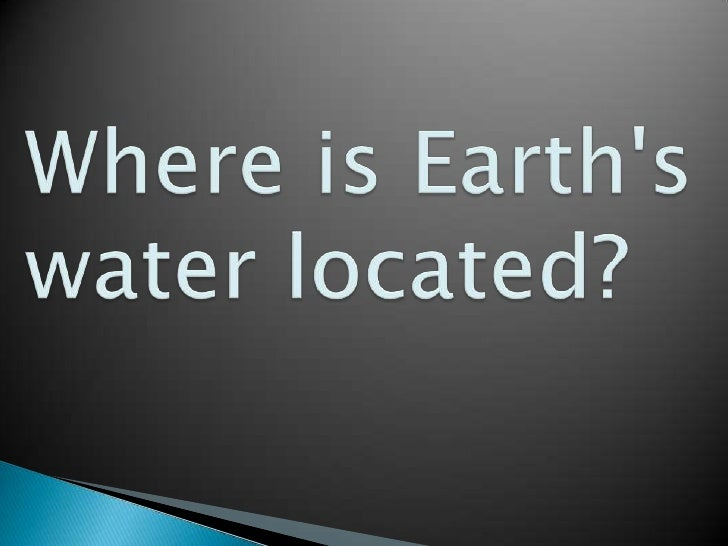 Yep, the Earth is doing a balancing act with its water!                      Water is continually moving around,