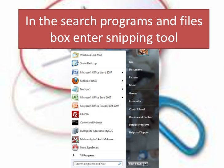 Get windows Snipping Tool
