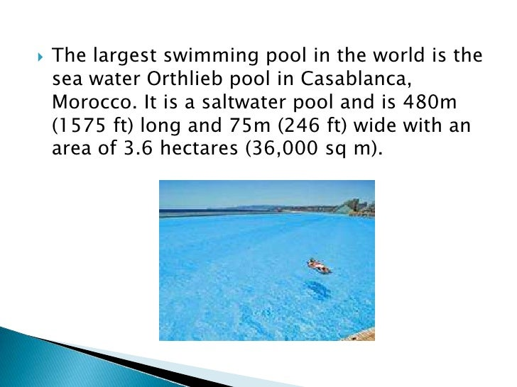 Where Is The Largest Swimming Pool In The World