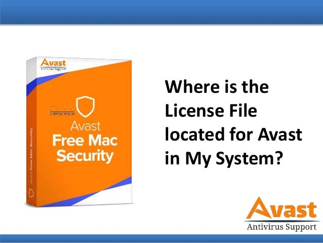 Where is the License File Located for Avast in My System?