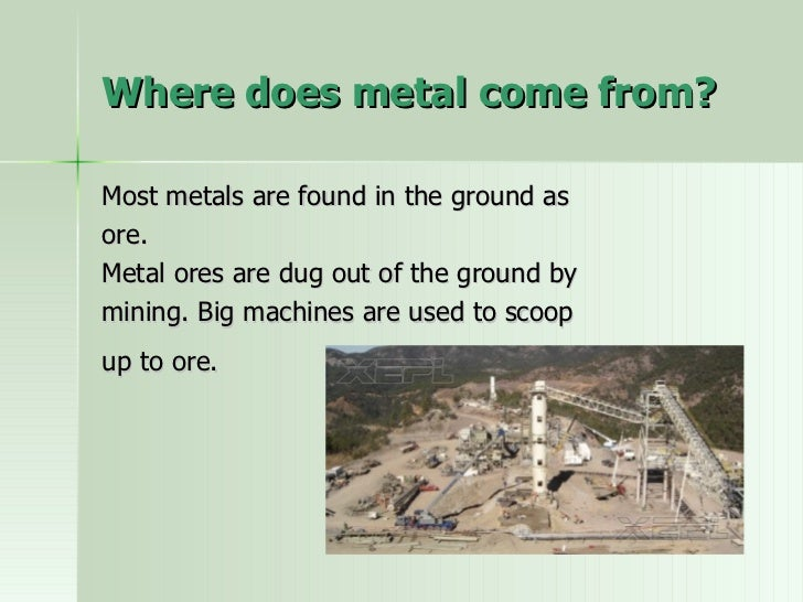 Where Materials Come From