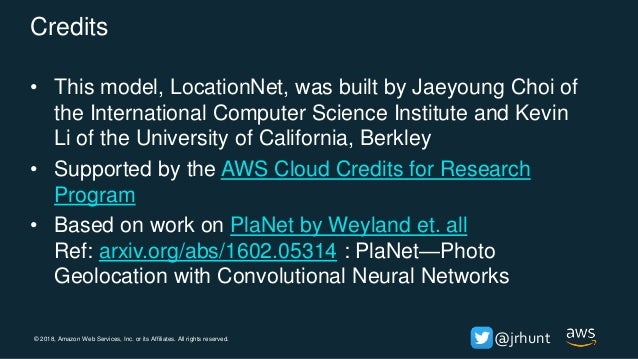 © 2018, Amazon Web Services, Inc. or its Affiliates. All rights reserved. @jrhunt Example S2 Multi-scale partitioning Ref:...