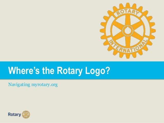 Where's the Rotary Logo? Navigating myrotary.org