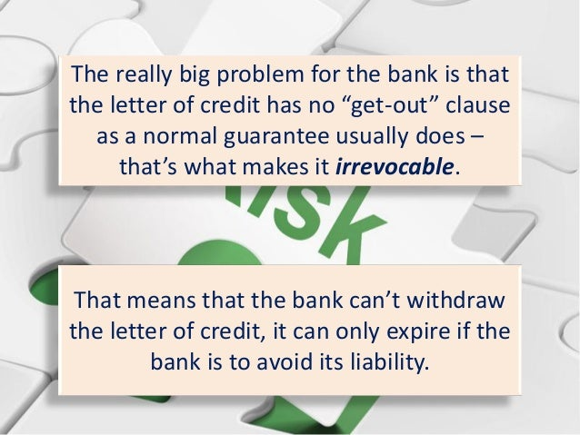 Where The Credit Risk Lies In Letters Of Credit