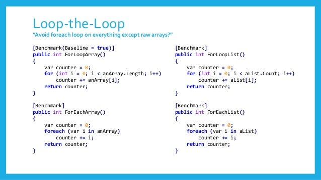 Loop-the-Loop – 'for loop' - Arrays