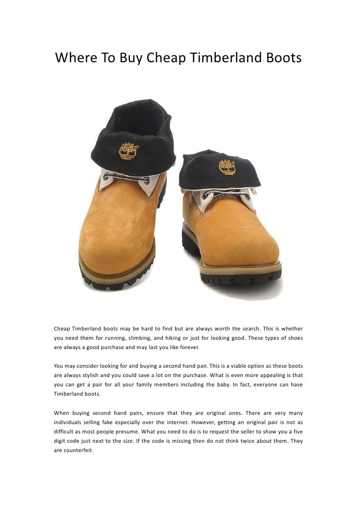 Where to buy cheap timberland boots