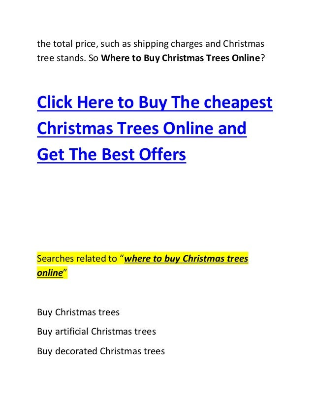 Where to buy christmas trees online 2014 2015 for Buy plans online