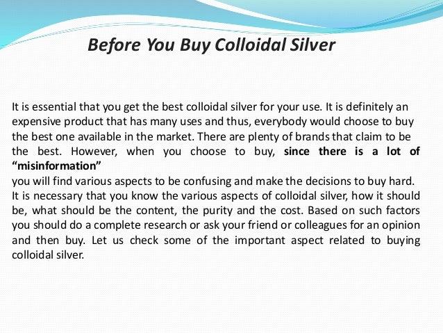 Colloidal silver where to buy