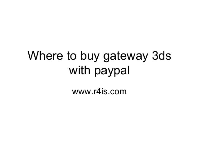Where to buy gateway 3ds with paypal