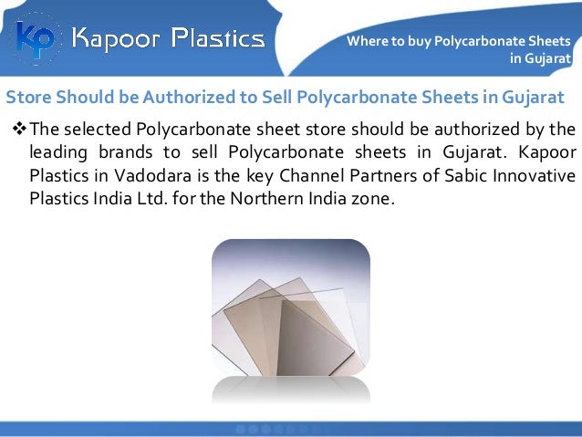 Where to Buy Polycarbonate Sheets in Gujarat Kapoor Plastics