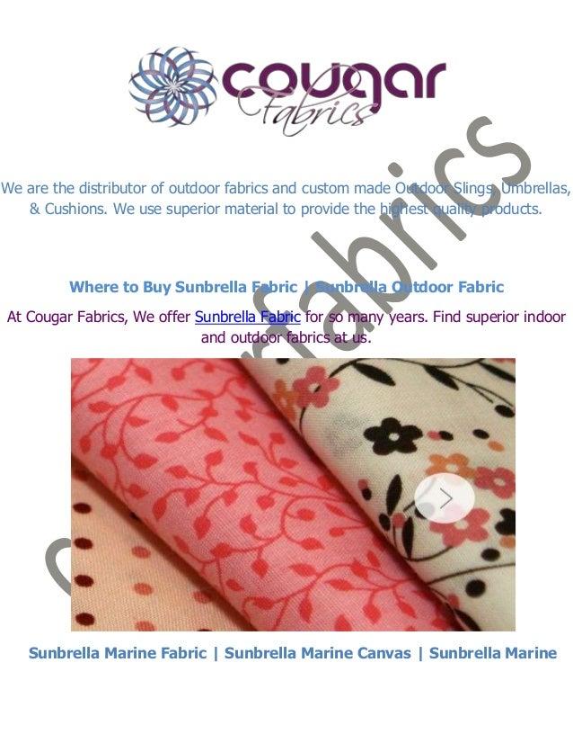 Where to buy sunbrella fabric