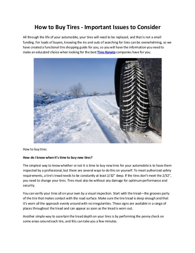 How To Buy Tires >> Where To Buy Tires In Kanata