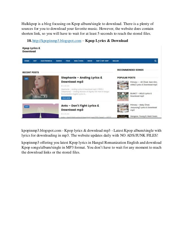 Websites for downloading K-Pop videos/single/album for FREE