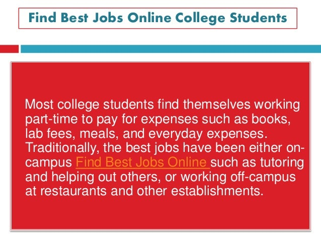 best online part time jobs for college students