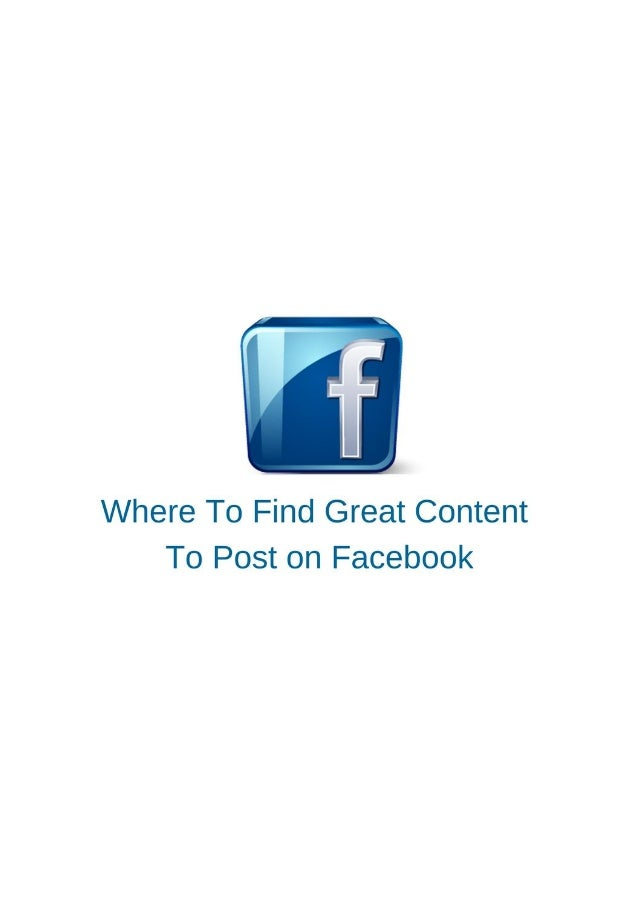 The golden rule of Facebook is 'Content is King'. It's all about what you share and post, even more than how often you pos...