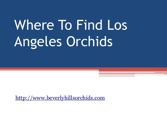 Where to find los angeles orchids for How to buy a house in los angeles