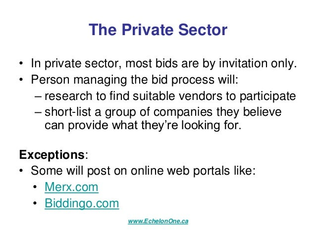 Where to find rfp and rfq bid opportunities in canada echelon one con…