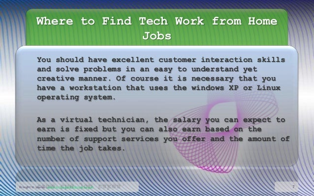 work from home technology jobs where to find tech work from home jobs 5648