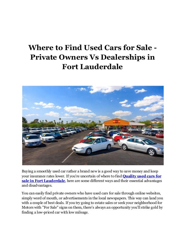 best website to buy used cars from owners
