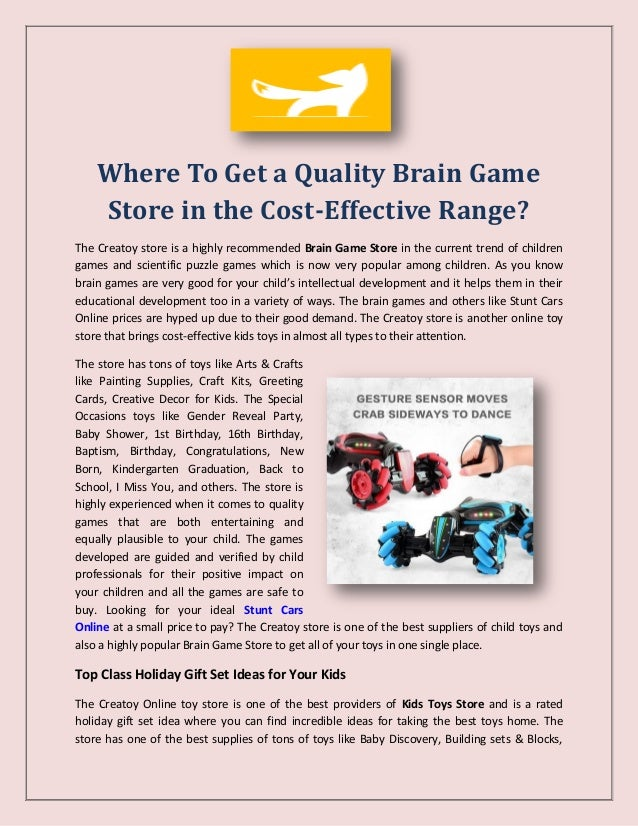 Where To Get A Quality Brain Game Store In The Cost Effective Range