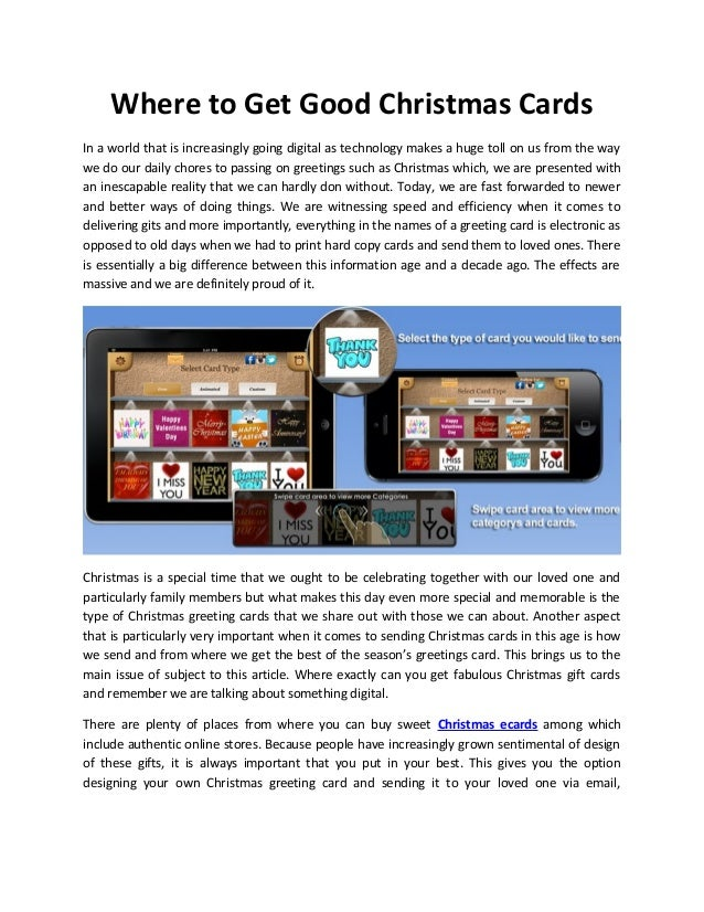 Where to Get Good Christmas Cards