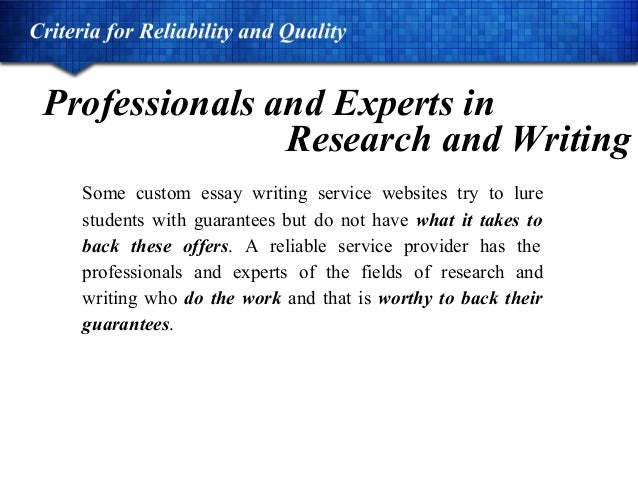 Dependable customize essay