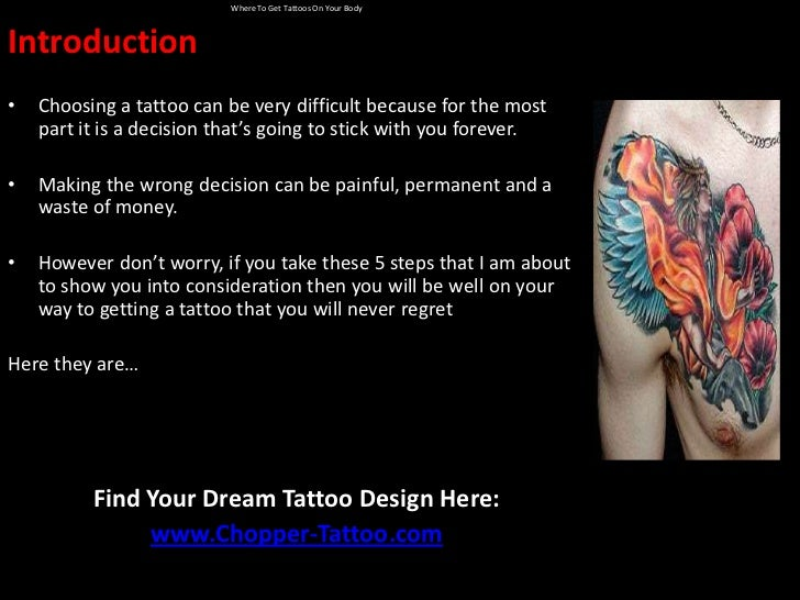 Where To Get Tattoos On Your Body