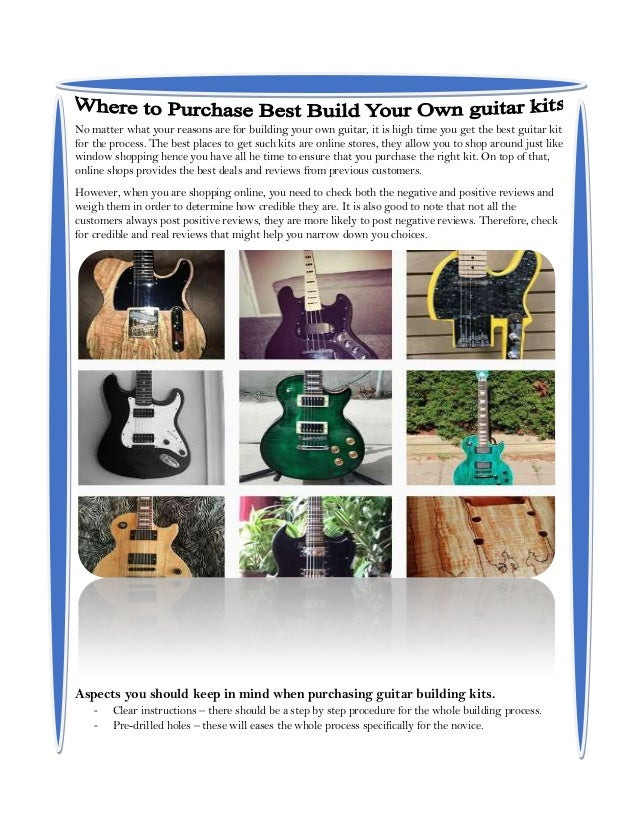 Where to pruchase best build your own guitar kits