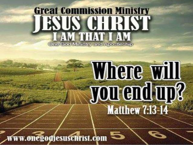  Mat 7:13 Kayo'y magsipasok sa makipot na pintuan: sapagka't maluwang ang pintuan, at malapad ang daang patungo sa pagkap...