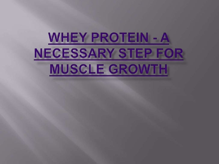 Whey Protein - A Necessary Step for Muscle Growth<br />