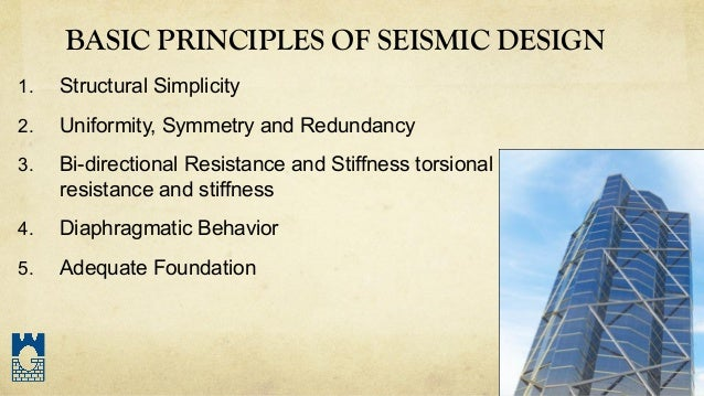 structures 7 basic principles of seismic design