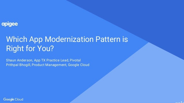 Proprietary and confidential Which App Modernization Pattern is Right for You? Shaun Anderson, App TX Practice Lead, Pivot...