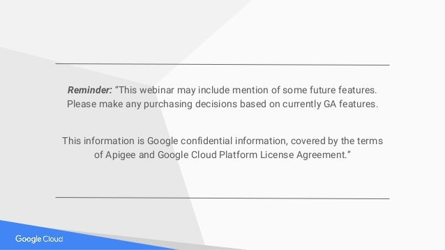 """Reminder: """"This webinar may include mention of some future features. Please make any purchasing decisions based on current..."""