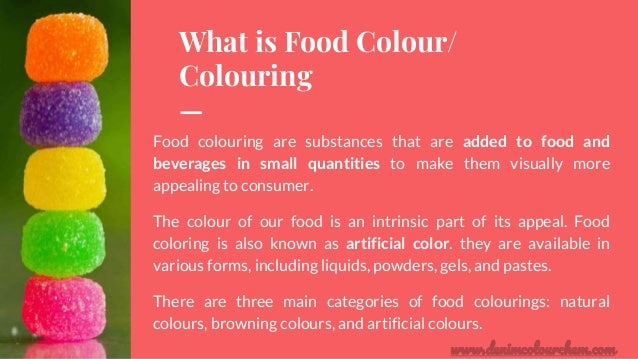 Which are the different types of natural & synthetic food colors