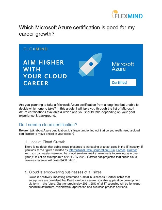 Which Azure Certification Is Good For My Career Growth
