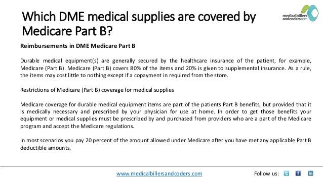 Which dme medical supplies are covered by medicare part b docx