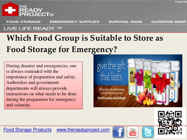 Which Food Group is Suitable to Store as Food Storage for Emergency? During disaster and emergencies, one is always remind...