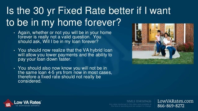 30 Yr Traditional Loan Vs. VA Hybrid - Which is Better?