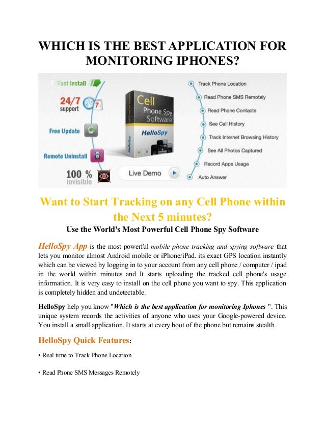 WHICH IS THE BEST APPLICATION FOR MONITORING IPHONES? Want to Start Tracking on any Cell Phone within the Next 5 minutes? ...