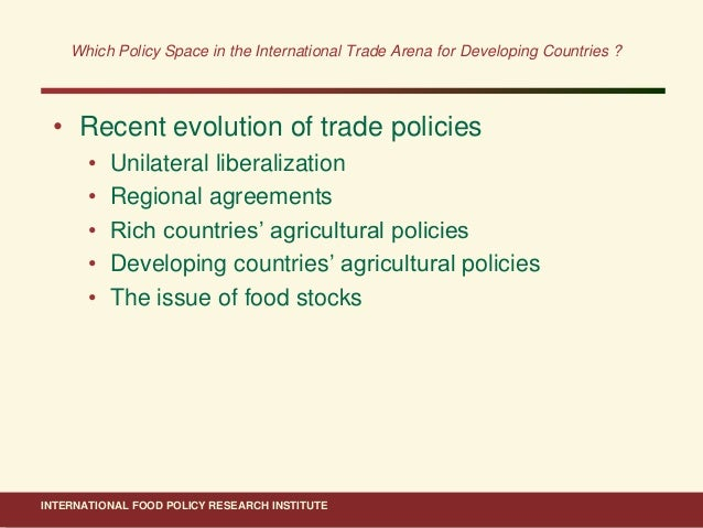 WTO Negotiations on Improving Food Aid