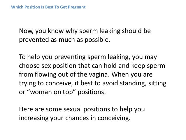 Best conception position sex