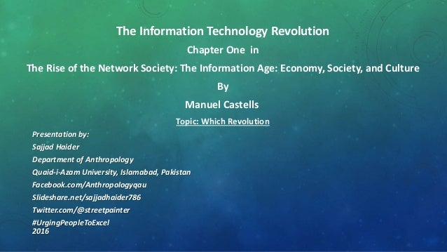 information technology revolution Information revolution vs  with computers, information technology, and high-tech communication systems dominating the business environment,.